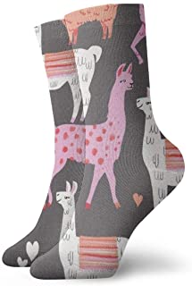 Calcetines gris para mujer con alpacas