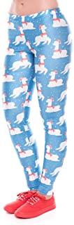 Legging mujer con alpacas en azul