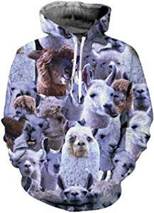 Sudadera con capucha con alpaca