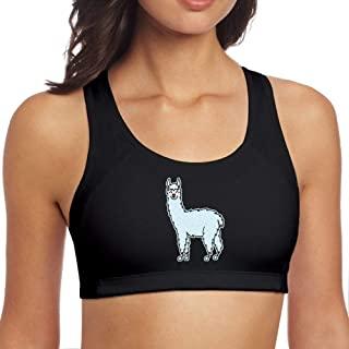Top gimnasio negro con imagen de alpaca