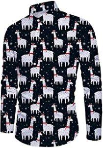 camisa de navidad con alpacas