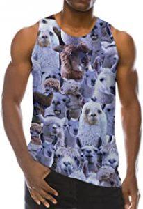 camiseta sin mangas con alpacas