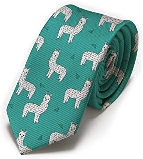corbata verde con alpaca