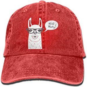 gorra beisbol roja de alpaca