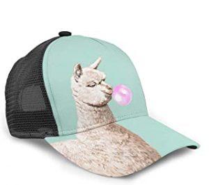 gorra unisex verde con alpaca